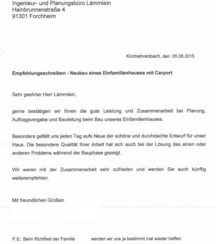 Empfehlungsschreiben Dollak_ohne Namen - Lämmlein Architektur